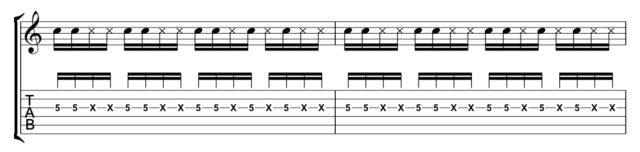 単音カッティング1音楽譜