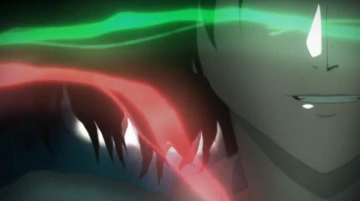 空の境界「痛覚残留」赤と緑の螺旋