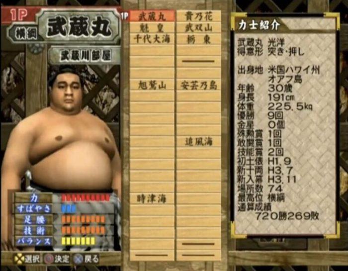 「日本相撲協曾公認 日本大相撲 本場所激闘編」キャラクター5