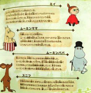 「ムーミン谷のおくりもの」キャラクター2