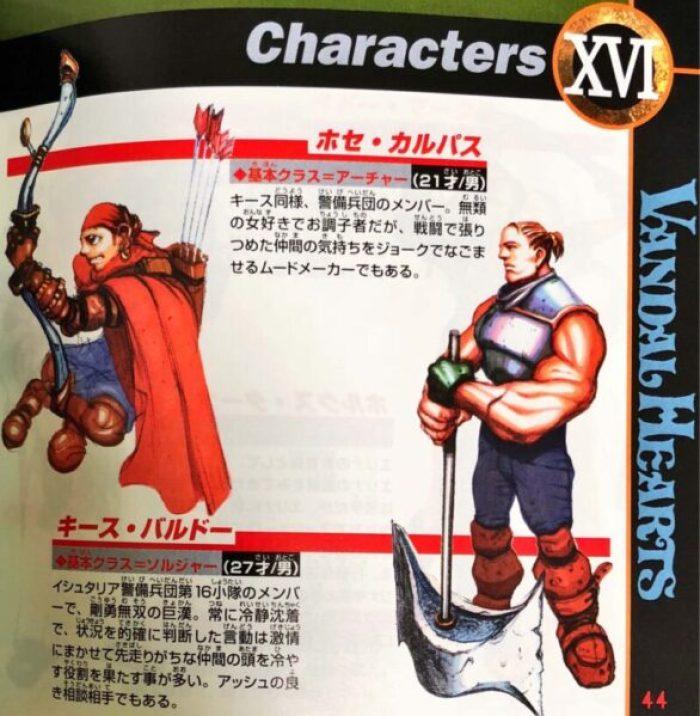 「ヴァンダルハーツ~失われた古代文明~」キャラクター2