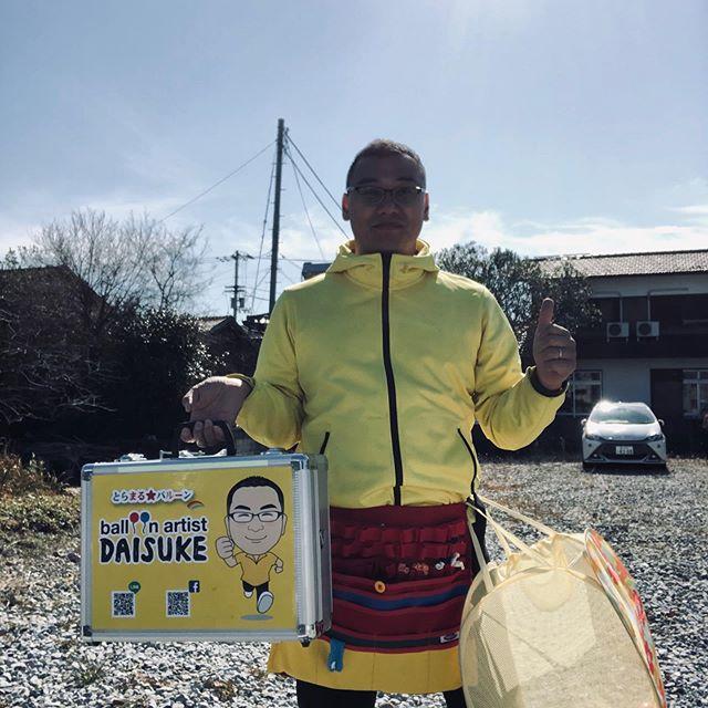 今週2回目のバルーンアート。黄色い服の風船の人ですっかり定着しましたね(^O^)#バルーン#風船#バルーンアート#イエロー#黄色#JA#パセリ #大内#こう見えて #東かがわ市 #市議会議員 #山口大輔