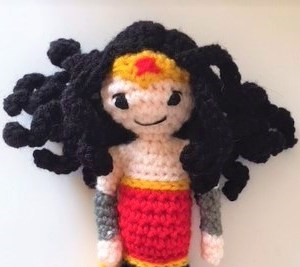 Free Wonder Woman Amigurumi Corchet Pattern