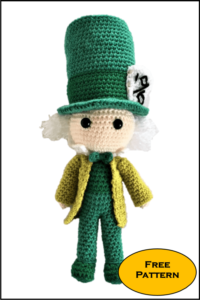 Free Mad Hatter Amigurumi Pattern Crochet Alice In Wonderland