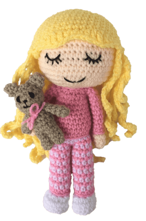 How to crochet a doll - UNICORN DOLL - HAIR tutorial - YouTube | 768x509