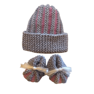 Quick and Easy Premmie Baby Booties and Hat Free Knitting Pattern