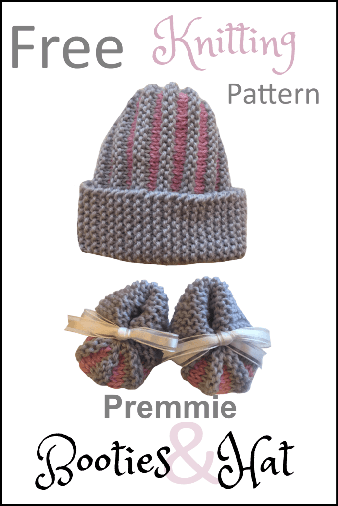 18839feca Quick and Easy Premmie Baby Booties and Hat - Daisy and Storm
