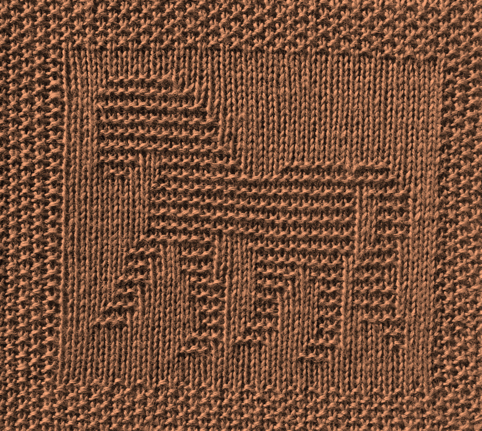 Free Horse Dishcloth or Afghan Square Knitting Pattern