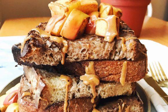 Cinnamon Sourdough French Toast with Sautéed Cinnamon Apples