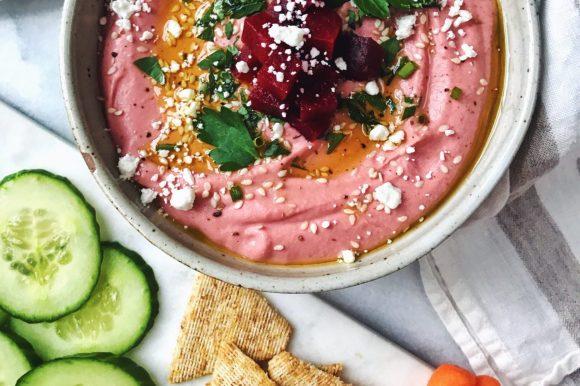 Dreamy Pink Beet + White Bean Dip