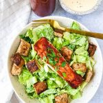 barbeue salmon caesar salad