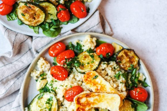 Halloumi, Couscous and Roasted Vegetable Salad