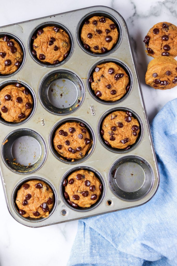 almond butter sweet potato muffins