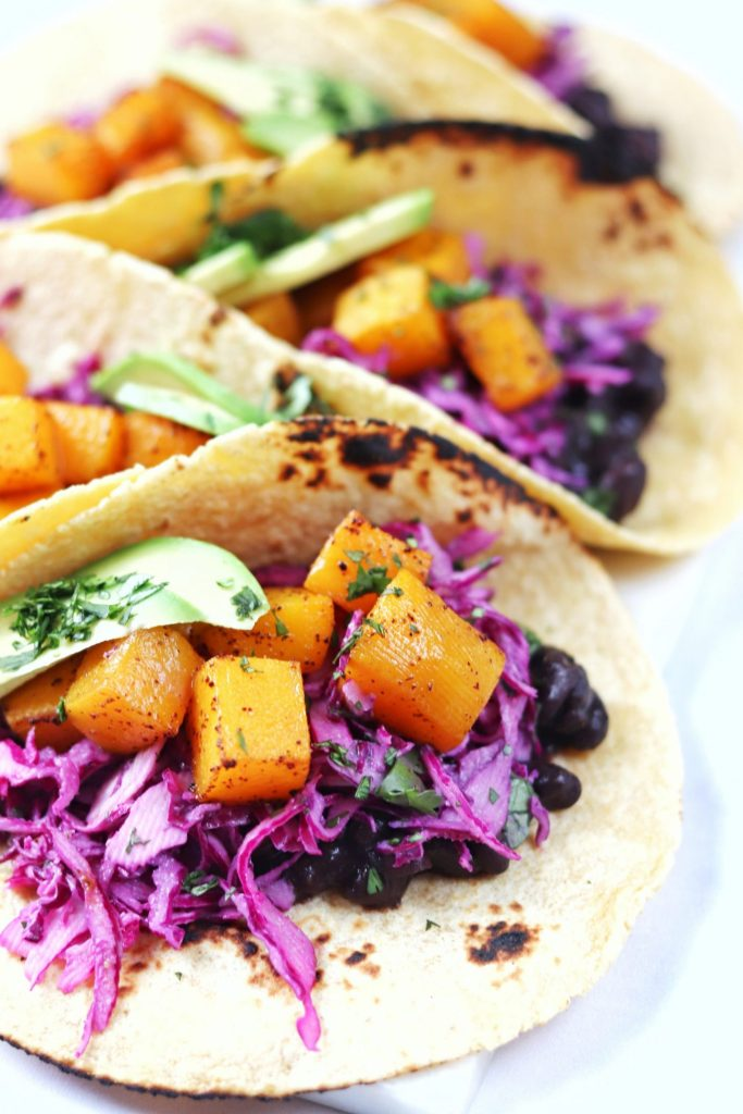 Butternut squash and black bean tacos - Daisybeet