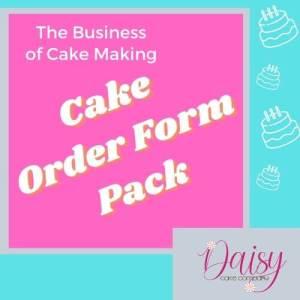 Cake Order Form Pack