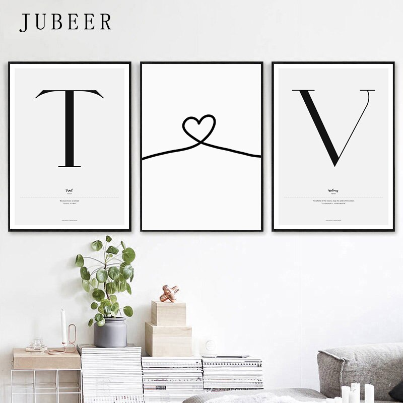Quote Words Nordic Style Canvas Painting Simple Love Posters And Prints For Living Room Couples Wall Art Painting Home Decor Daisy S Corners