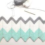 Crochet Chevron Blanket In Mint Dove And White Daisy Farm Crafts