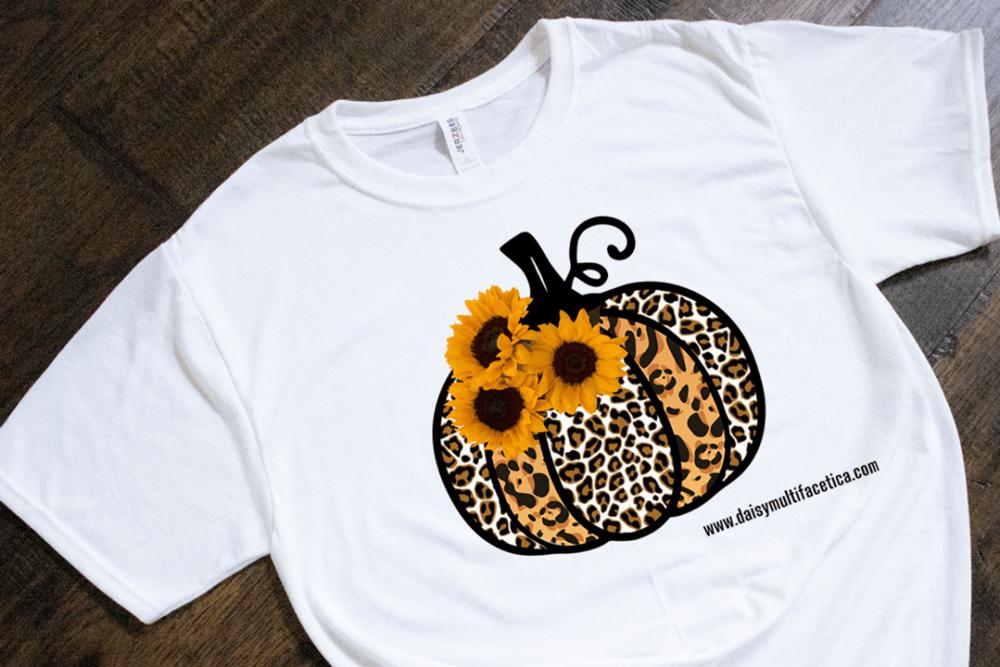 FREE Cheetah print pumpkin with sunflowers.