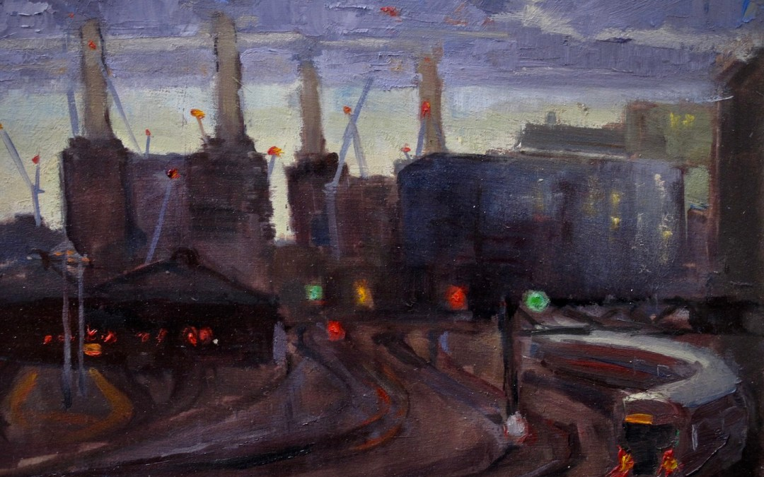 Catching trains and fading light on Ebury Bridge, London