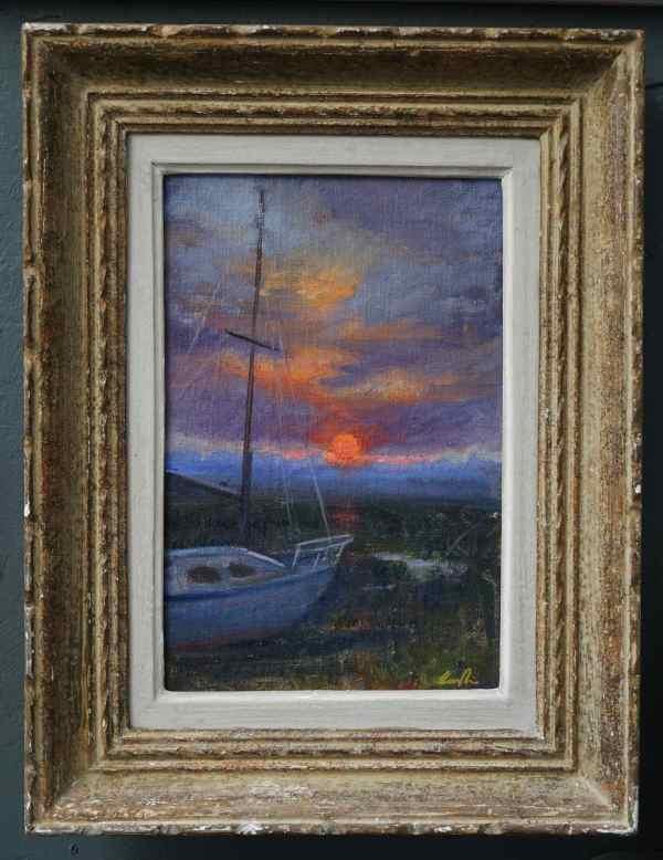 Evening in the Boatyard, Aldburgh