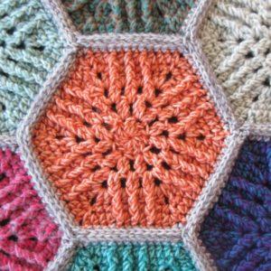 Sunbeam Hexagon Motif Free Crochet Pattern