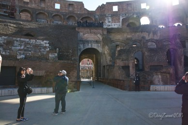 Looking back at the Gladiator's entrance after walking through