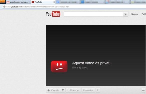Aquest vídeo és privat. Ens sap greu.