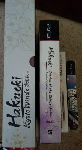 Hakuoki Limited Edition Box Sides