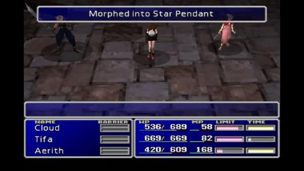 Final Fantasy VII Star Pendant Morph