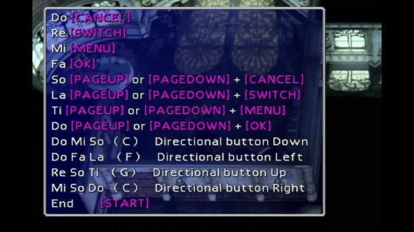 Final Fantasy VII Piano menu
