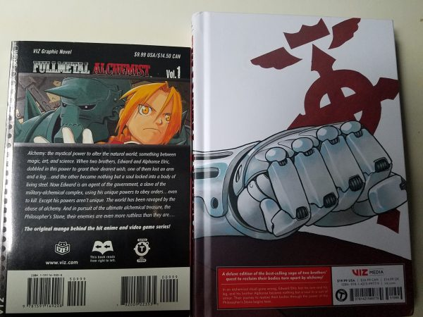 Fullmetal Alchemist original vs Fullmetal Edition back covers