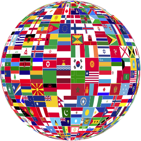 World Globe Flags