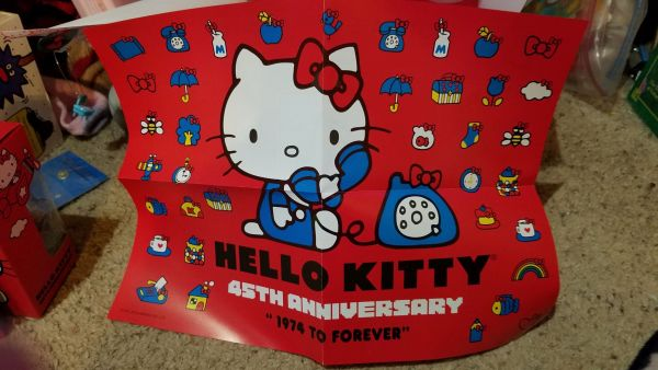 Hello Kitty Loot Crate 45th Anniversary poster
