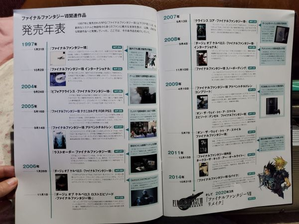 Final Fantasy VII Series Special Book (with tote bag) booklet