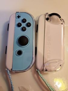 Animal Crossing Switch Console Joy-Con protected
