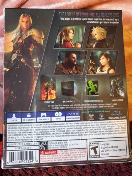 Final Fantasy VII Remake Premium Deluxe Edition box