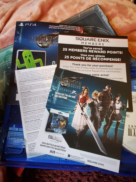 Final Fantasy VII Remake Premium Deluxe Edition inserts