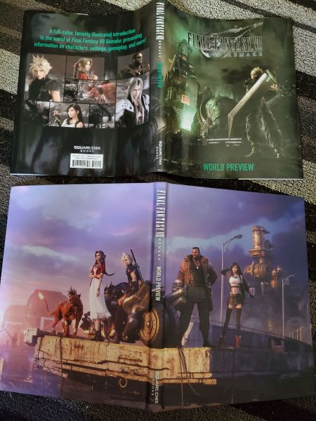 Final Fantasy VII Remake World Preview Dust Jacket and Cover