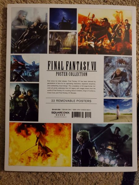 Final Fantasy VII Poster Collection Back Cover