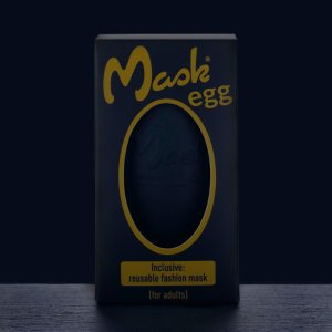 Verpackung für das Maskegg 'Black Edition', erhältlich bei DaKaiTOP