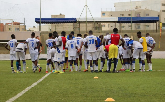 entrainement - équipe Dakar Sacré-Coeur