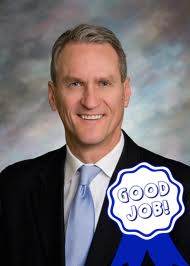 Governor Dennis Daugaard and blue ribbon