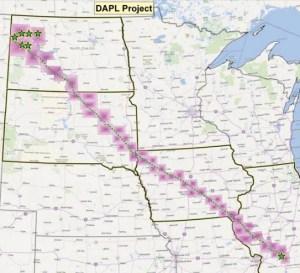 Dakota Access Pipeline Route, from Energy Transfer Partners, 2015