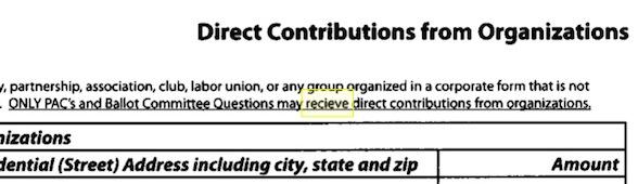 clip of SD campaign finance report, April 2015