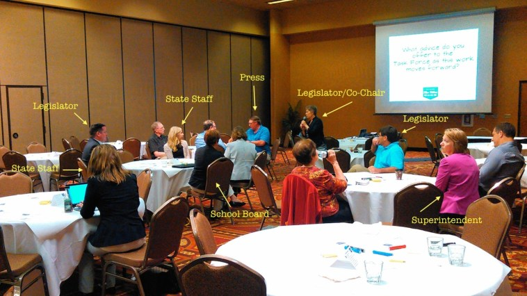 Blue Ribbon K-12 task force info-gathering session for business people in Aberdeen: not many business people. 2015.06.23