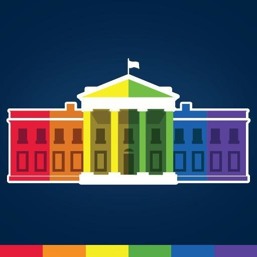 Rainbow White House, displayed as White House Twitter icon, 2015.06.26