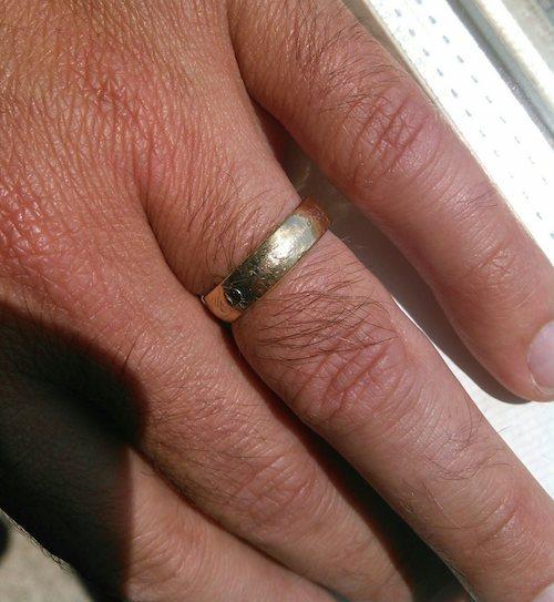 Cory's wedding ring, 13 years on...