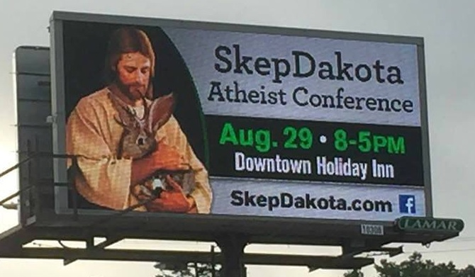 Photo: Amanda Novotny, SD director, American Atheists, 2015.08.22.