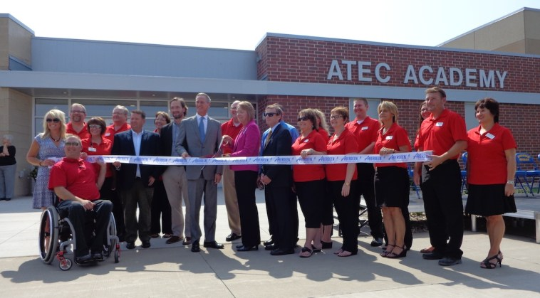 Ribbon cutting, A-TEC Academy, Aberdeen, South Dakota