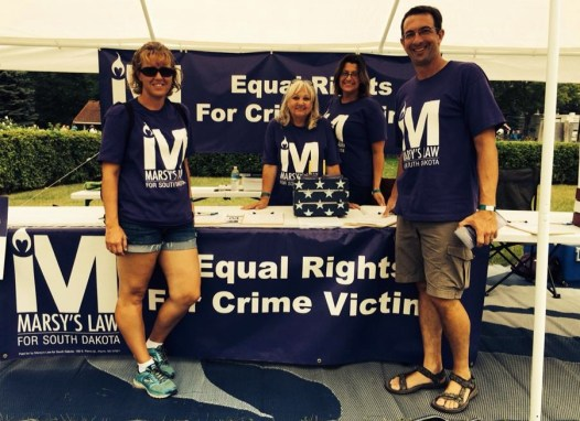 Victims bill of rights circulators, State Fair, Huron, South Dakota, 2015.09.07. Photo from Marsy's Law for South Dakota Facebook page.